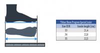 размеры обуви Tibhar Progress Special Junior