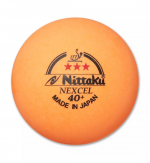 Мячи NITTAKU Nexcel 40+ 3*** ITTF 3шт
